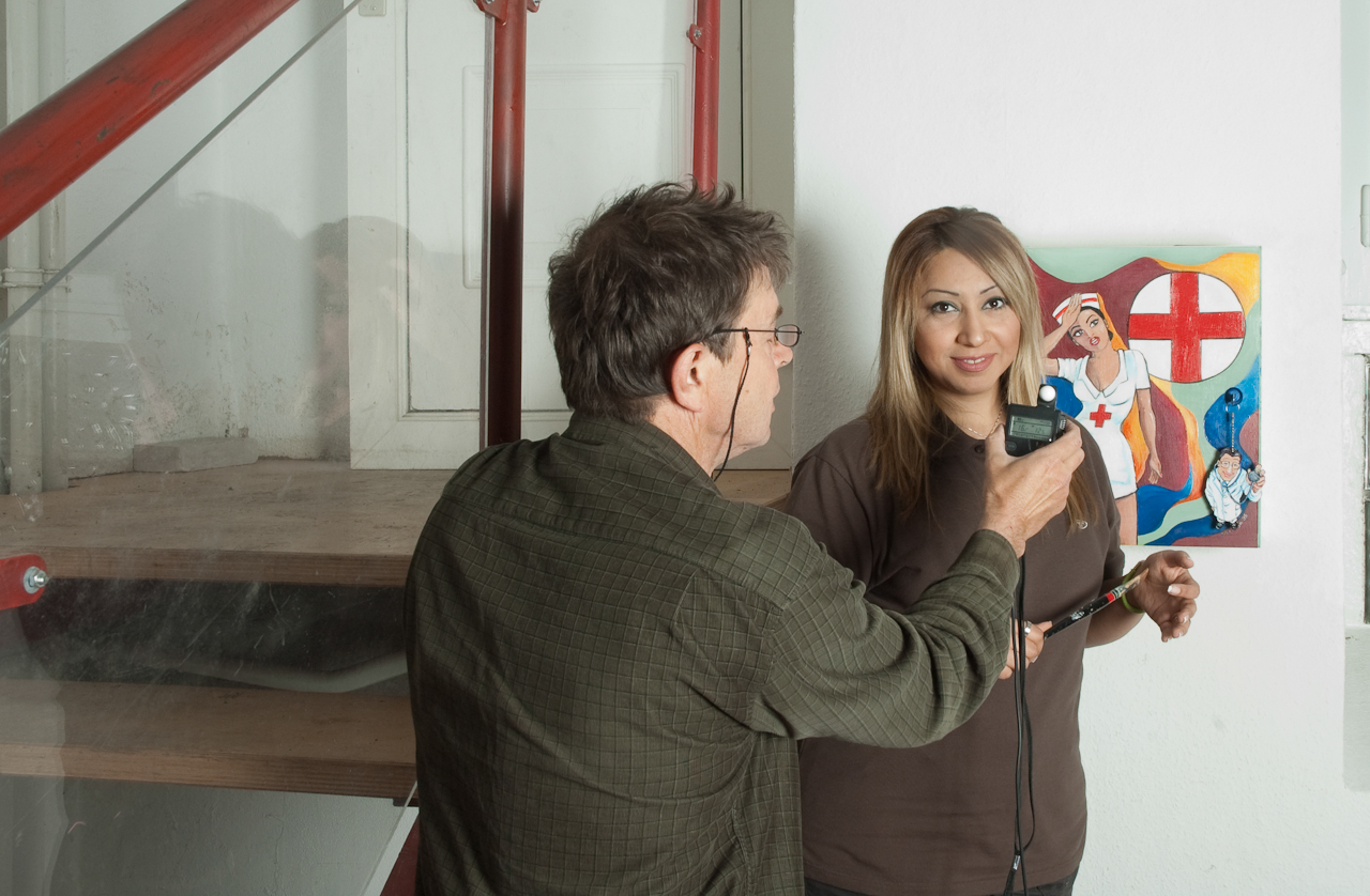 Ulrich Gehner fotografiert BauArt Projekt - Teilnehmerin Sanaz Sadighi