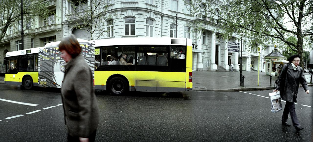 Straßenszene auf dem Ku'damm in Berlin